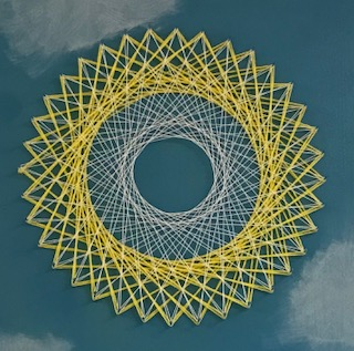 Math string art