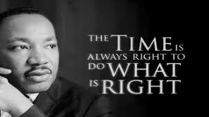 The Time is Always Right MLKJr