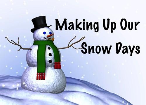 snow day make ups woods charter school