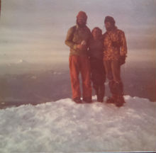 Summit of Mount St. Helens before its bit erruption in 1980