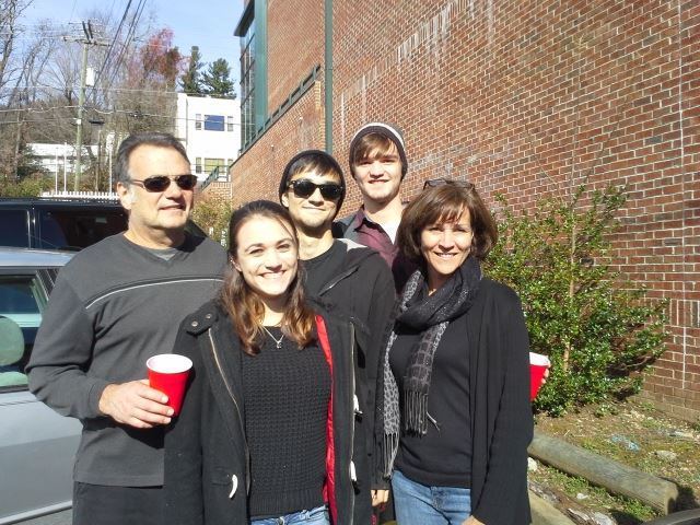 Enjoying an App State football game with my family
